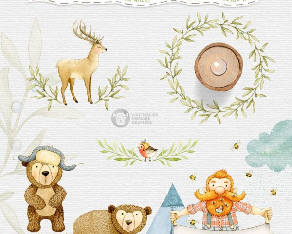 Lumberjack of the Woodlands Clipart