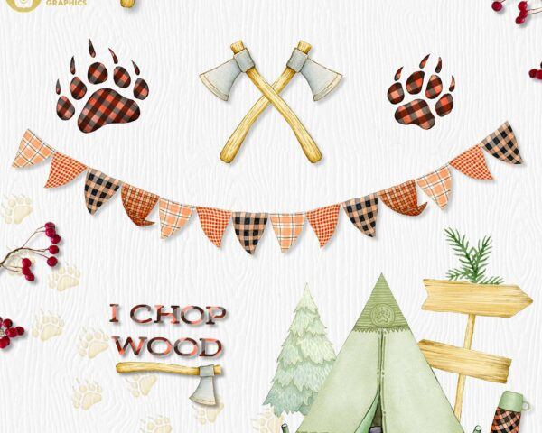 Lumberjack 2 Watercolor Collection1