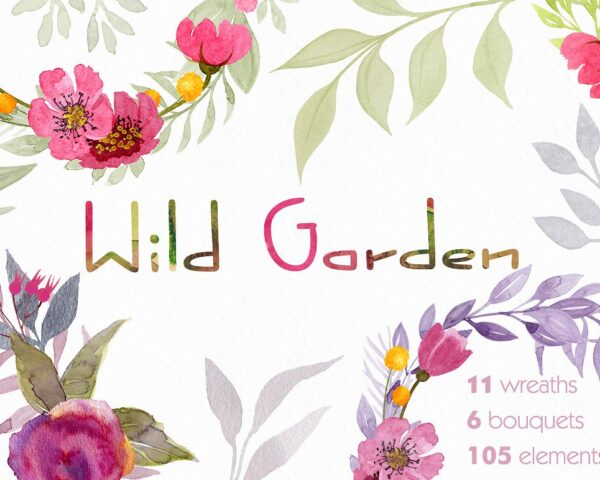 wild flower watercolor collection