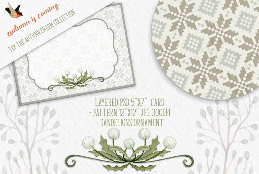 Autumn Charm watercolor collection free sample
